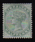 Gibraltar Stamps SG 0008 1887 Halfpenny - MH (d453)