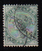 Gibraltar Stamps SG 0008 1887 Halfpenny - USED (d451)