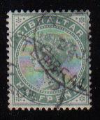 Gibraltar Stamps SG 0008 1887 Halfpenny - USED (d451)