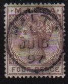 Malta Stamps SG 0027 1885 Four pence - USED (d440)