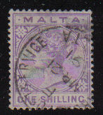 Malta Stamps SG 0029 1890 One Shilling - USED (d433)