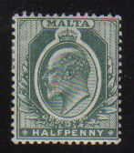 Malta Stamps SG 0038 1903 Halfpenny - USED (d445)