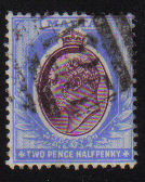 Malta Stamps SG 0041 1903 Two and Halfpenny - USED (d435)