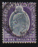 Malta Stamps SG 0044 1903 One Shilling - USED (d436)