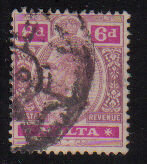 Malta Stamps SG 0080 1914 Six penny - USED (d434)