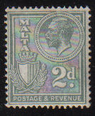 Malta Stamps SG 0161 1927 Two penny - MINT (d441)