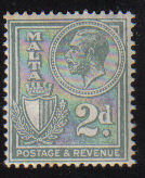 Malta Stamps SG 0161 1927 Two penny - MINT (d442)