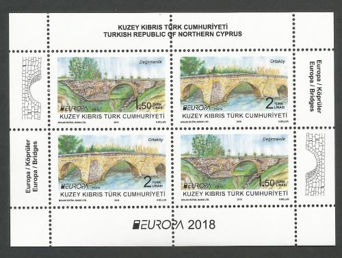 North Cyprus Stamps SG 2018 EUROPA Bridges Mini Sheet