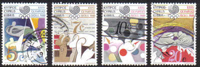 Cyprus Stamps SG 722-25 1988 Seoul Olympic Games - USED (d466)