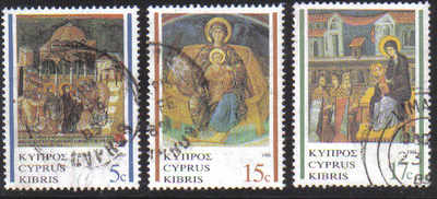 Cyprus Stamps SG 731-33 1988 Christmas - USED (d469)