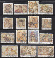 Cyprus Stamps SG 756-70 1989 7th Definitives Mosaics - USED (d473)