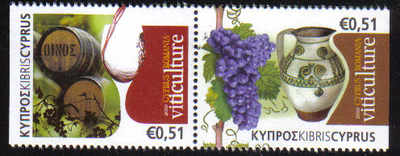 Cyprus Stamps SG 1236 MS 2010 Cyprus Romania Joint issue Viticulture - MINT