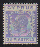 Cyprus Stamps SG 122 1925 2 1/2 Piastres - MINT