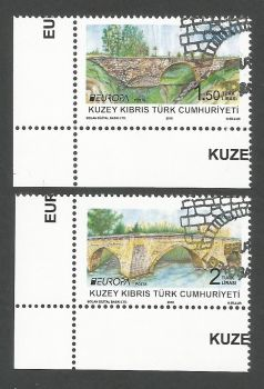 North Cyprus Stamps SG 0838-39 2018 Europa Bridges - CTO USED (k714)