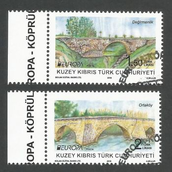 North Cyprus Stamps SG 2018 (b) Europa Bridges - CTO USED (k715)