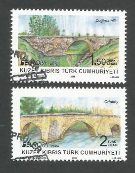 North Cyprus Stamps SG 2018 (b) Europa Bridges - CTO USED (k716)