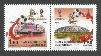 North Cyprus Stamps SG 2018 (c) FIFA World Cup Football Russia - MINT