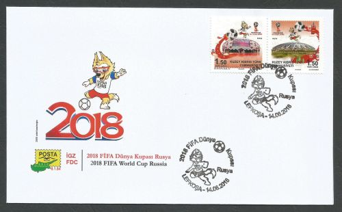 North Cyprus Stamps SG 2018 (c) FIFA World Cup Football Russia - Official F