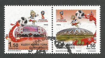 North Cyprus Stamps SG 2018 (c) FIFA World Cup Football Russia - CTO USED (k718)
