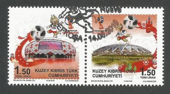 North Cyprus Stamps SG 0840-41 2018 FIFA World Cup Football Russia - CTO USED (k719)