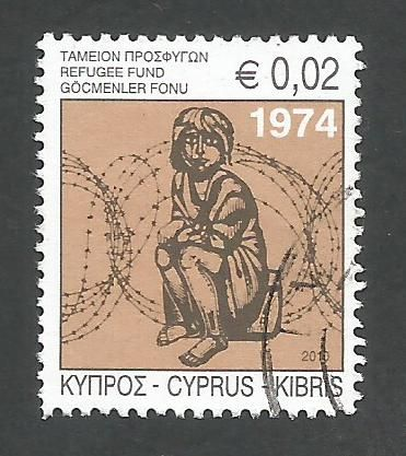 Cyprus Stamps 2010 Refugee Fund Tax SG 1218a - USED (k672)