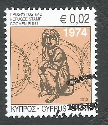 Cyprus Stamps 2013 Refugee Fund Tax SG 1290 - CTO USED (k671)