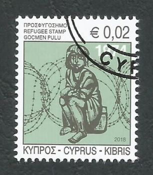 Cyprus Stamps 2018 Refugee Fund Tax - CTO USED (k712)