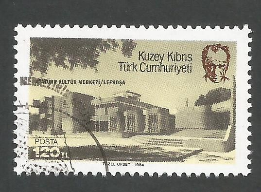North Cyprus Stamps SG 153 1984 Ataturk Centre - USED (k692)