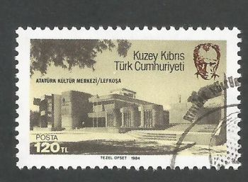 North Cyprus Stamps SG 153 1984 Ataturk Centre - USED (k693)