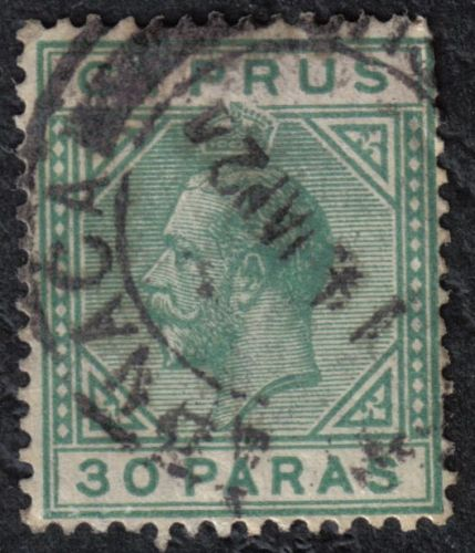 Cyprus Stamps SG 088a 1923 30 Paras - Broken bottom left triangle USED (h83