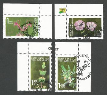 North Cyprus Stamps SG 0830-33 2017 Endemic plants - CTO USED (k538)