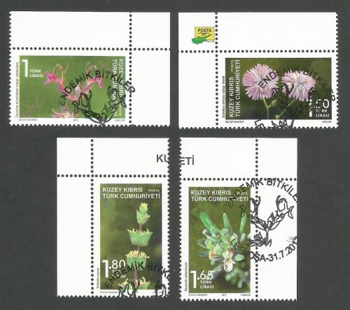 North Cyprus Stamps SG 2017 (d) Endemic plants - CTO USED (k538)