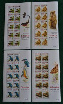 Gibraltar Stamps SG 0853-56 1999 Europa Parks and Gardens - Full sheet MINT (k733)