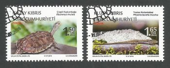 North Cyprus Stamps SG 2018 (d) Protected Animals Reptiles - CTO USED (k744)