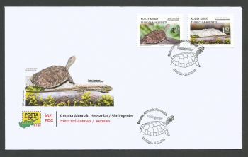 North Cyprus Stamps SG 2018 (d) Protected Animals Reptiles - Official FDC
