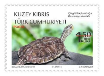 North Cyprus Stamps SG 2018 Protected Animals Reptiles 1.50 face value Turt