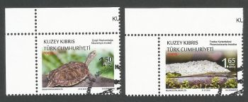 North Cyprus Stamps SG 0842-43 2018 Protected Animals Reptiles - CTO USED (k746)