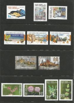 North Cyprus Stamps  2017 Complete Year Set - MINT