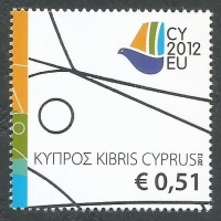 Cyprus Stamps SG 1279 2012 Cyprus Presidency of the Council of the EU - MINT