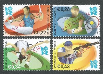 Cyprus Stamps SG 1270-73 2012 London Olympic Games - Specimen MINT