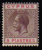 Cyprus Stamps SG 081 1915 Nine Piastres KGV - USED (d474)