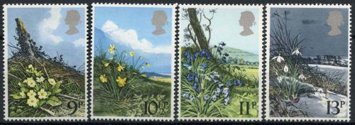 British Stamps 1979 Spring wild flowers - MINT (k783)