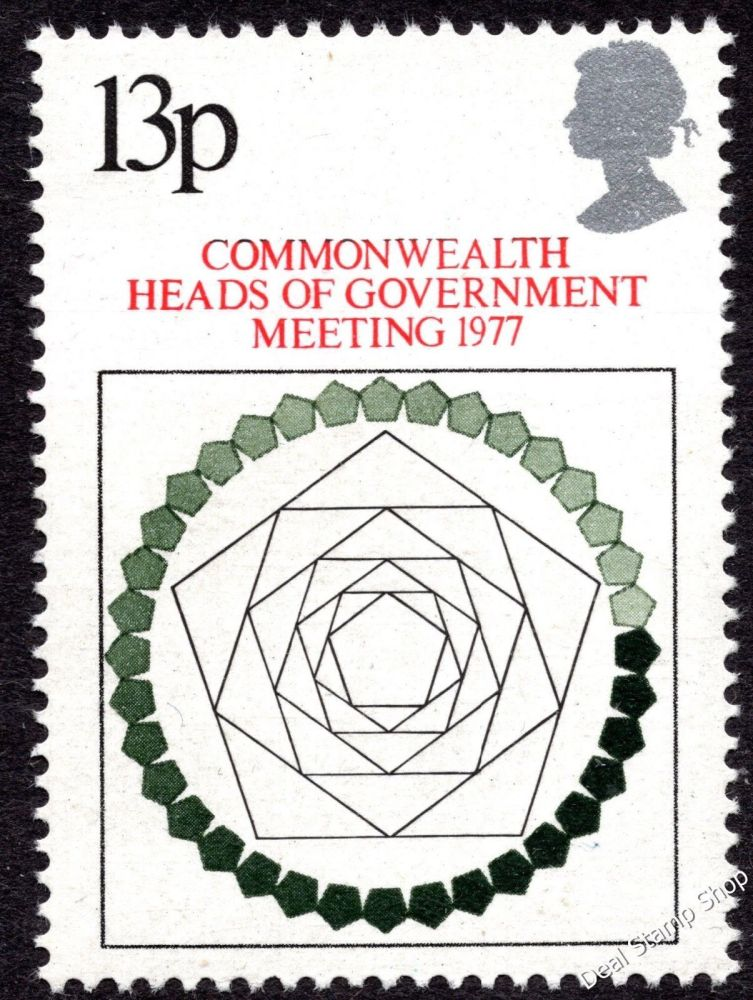 British Stamps 1977 Commonwealth Heads of Government Meeting London - MINT