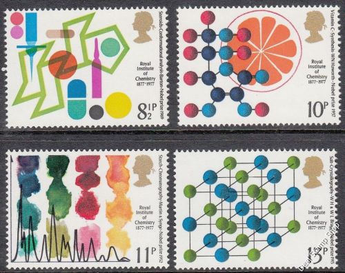 British Stamps 1977  Royal Institute for Chemistry - MINT (k792)