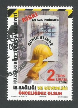 North Cyprus Stamps SG 2018 (e) Occupational Health and Safety - CTO USED (K793)