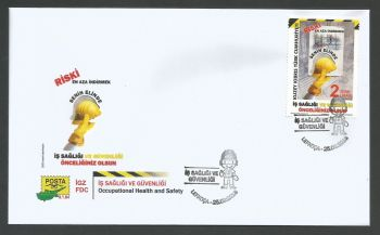 North Cyprus Stamps SG 2018 (e) Occupational Health and Safety - Official FDC