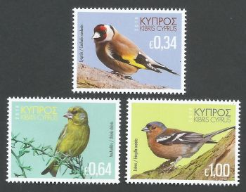 Cyprus Stamps SG 1443-45 2018 Birds of Cyprus - MINT