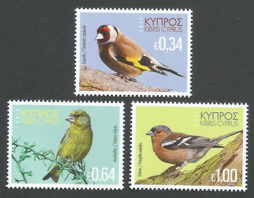 Cyprus Stamps SG 2018 (g) Birds of Cyprus - MINT