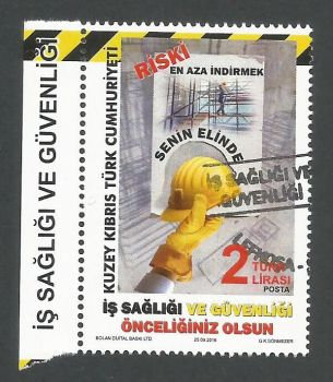 North Cyprus Stamps SG 2018 (e) Occupational Health and Safety - CTO USED (K794)