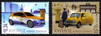 Cyprus Stamps SG 1297-98 2013 EUROPA Postal Vehicles